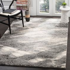 Safavieh Retro Mid-Century Modern Abstract Grey/ Ivory Rug X for sale online Wall Carpet, Gray Carpet, Retro Home Decor, Carpet Design, Grey Rugs, Ivory Rugs, My Living Room, Living Area, Online Home Decor Stores