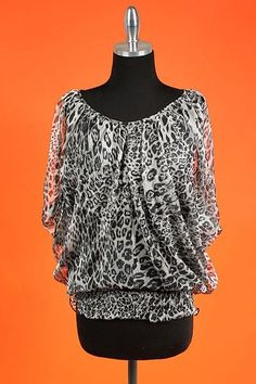 Gray & Black Lined Cheetah Print Top! $25.00 #countryflare  http://countryflaredesigns.mybigcommerce.com/gray-black-lined-cheetah-print-top-233t/