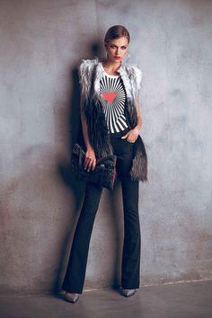 Faux fur / outfit/ style / denny rose 2014 - 2015 sonbahar kış koleksiyonu