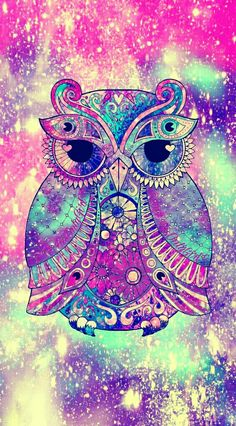 Tribal owl galaxy iPhone/Android wallpaper created for the app CocoPPa!