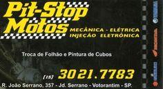 JORNAL AÇÃO POLICIAL SOROCABA E REGIÃO ONLINE: PIT-STOP MOTOS Mecânica, Elétrica e Injeção Eletrônica Rua. João Serrano, 357 Jd. Serrano - Votorantim - SP tel: (15) 3021-7783