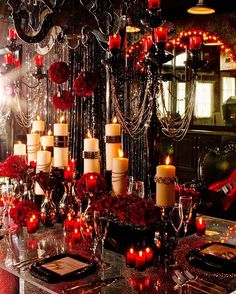 Captivating Dark, Dramatic And Elegant Gothic Wedding Reception Idea