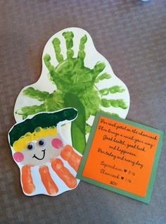 St. Patrick's Day Handprint Ideas ~ The Suede Sofa