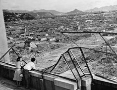 This 1948 file photo shows the devastated city of Hiroshima some three years after the US dropped an atomic bomb, Aug. 6, 1945, at the end of World War II. Around 140,000 people, or more than half of Hiroshima's population at the time, died.