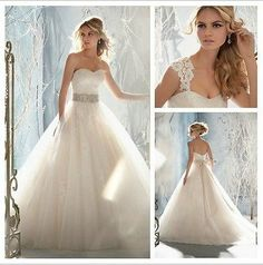Removable Cap Sleeve A-Line Ball Gown Bridal Bodice Sweetheart Wedding Dresses