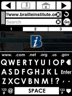 BigBrowser - by Braille Institute ($0.00) BigBrowser is an Internet browsing application designed to help Low Vision users more easily navigate the web on their iPads. It's extra large keyboard and controls, expanded pinch zooming, and multiple color themes make content easy to read.