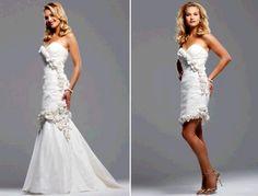 http://dyal.net/wedding-dress-with-detachable-skirt Sweatheart Neckline White Wedding Dress with Detachable Skirt