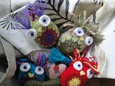 some of my crochet owls http://forgetmenotsblue.blogspot.co.uk/