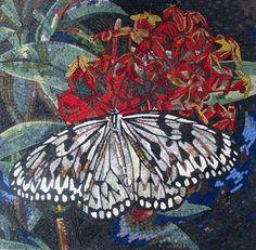 Mosaic Wall Art - Butterfly Flower | Birds And Butterflies | Mozaico