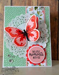 SUO Watercolor Words Butterfly Card by KY Southern Belle - Cards and Paper Crafts at Splitcoaststampers