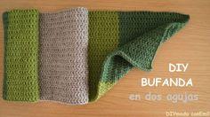 Cómo tejer bufanda de lana a dos agujas en punto formula, paso a paso