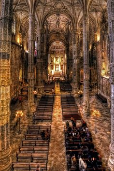 Amazing architecture at the Mosteiro dos Jeronimo's Church, Lisbon - PORTUGAL Sintra Portugal, Places In Portugal, Visit Portugal, Spain And Portugal, Portugal Travel, Algarve, Places To Travel, Places To See, Places Around The World