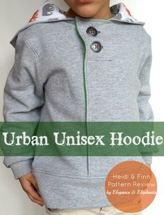 Elegance & Elephants: Heidi & Finn Urban Unisex Hoodie Pattern Review