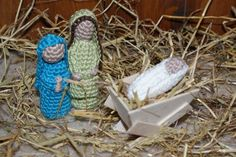 """Free pattern for """"Christmas Nativity with Joseph, Mary and Baby Jesus""""!"""