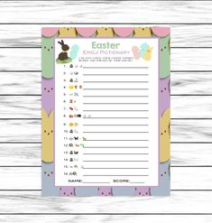 Easter Game, Emoji Pictionary, Easter Party Game, Emoji Game, For Adults Kids, Easter Decor, Dinner, Printable Games, Instant Download Easter Party Games, Easter Games For Kids, Word Games For Kids, Kids Fun, Easter Emoji, Easter Candy, Pictionary For Kids, Easter Puzzles, Emoji Games
