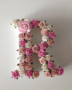 Flower Words, Flower Letters, Crafts To Make, Crafts For Kids, Stylish Alphabets, Bullet Journal Font, Alphabet Wallpaper, Flower Wall Decor, Baby Decor