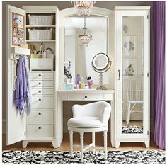vanity area (diff color scheme) but this is a great place for all makeup)