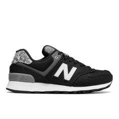 574 Art School Women's 574 Shoes - Grey/Black (WL574ASB)
