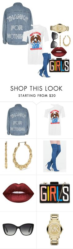 """""""Untitled #292"""" by slayedbyk on Polyvore featuring River Island, WearAll, Betsey Johnson, Lime Crime, Dolce&Gabbana and Michael Kors"""