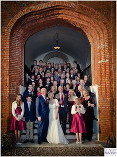 Big group photo, Farnham Castle Winter Wedding, wedding photographer Surrey, Ginny Marsh Photography