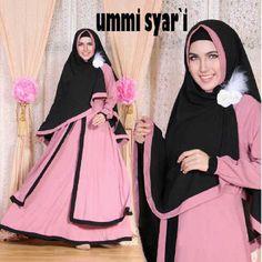 Gamis Syar'i Modern UMMI SYARI DUSTY - http://warongmuslim.com/gamis-syari/gamis-syari-modern-ummi-syari-dusty/