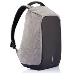 荷兰XD Design蒙马特城市安全防盗背包双肩包 防割减重外充接口防水包15寸电脑包 典雅灰15寸背包-送一拖二数据线