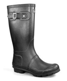 Look at this #zulilyfind! Black Faux Buckle Boot #zulilyfinds