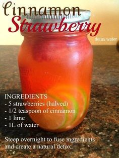 Detox water! Must try this XD Healthy foods you should be eating!