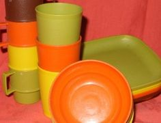 Vintage Tupperware dishes for kids...i found a new set of these at a garage sale.. and Had to get them :) memories of my childhood.
