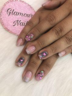 Nails Inspiration, Class Ring, Nail Designs, Tea, Beauty, Finger Nails, Polish Nails, Short Nail Manicure, Nail Manicure