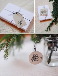 Free Hand Written Illustrated Christmas Gift Tags