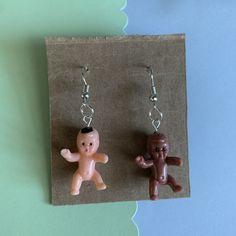 Punk Earrings, Baby Earrings, Clip On Earrings, Plastic Babies, Minecraft Ideas, Bead Shop, Ear Rings, Diy Stuff, Handmade Baby