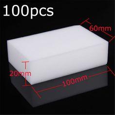 100PCS Nano Cleaning Magic Sponge Eraser Melamine Cleaner Multi-functional Foam…