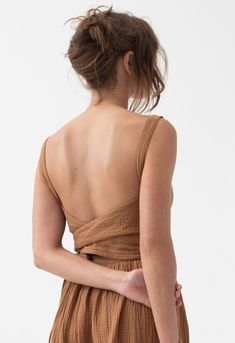 Cute Summer Dresses, Day Dresses, Casual Dresses, Summer Outfits, Low Back Dresses, Dress Backs, Spring Fashion, Criss Cross, Fashion Beauty