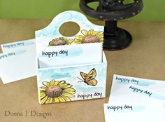 Clearsnap Blends Techniques: Watercolor Sizzix Caddy Tutorial by Donna Budzynski
