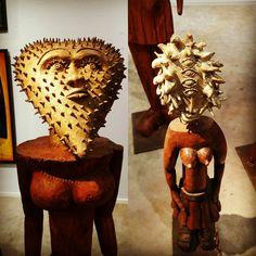 Hervé  Di rosa sculptures bois et laiton ART Paris art Fair Paris 2016