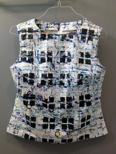 Monoprinted and sewn by Jeanne Williamson