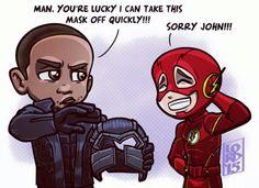Diggle and Flash Lord Mesa art