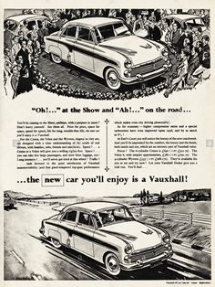 1956 Vauxhall Vauxhall Motors, The Bedford, Commercial Vehicle, Car Brands, Ads, Advertising, Peugeot, Cars And Motorcycles, The Past