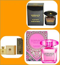 Versace Trio-Collection:Crystal Noir, Pour Femme, Bright Crystal Absolu5ML@ MINI #Versace