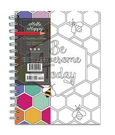 hello happy 140 page coloring journal rainbow collection journals