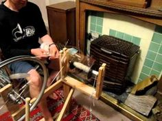 ▶ home made spinning wheel - YouTube