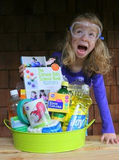 DIY Science Kits - a creative gift for kids that will not only entertain them, but also teach them valuable STEM skills!: DIY Science Kits - a creative gift for kids that will not only entertain them, but also teach them valuable STEM skills! Kids Gift Baskets, Raffle Baskets, Basket Gift, Stem Skills, Curious Kids, Auction Baskets, Science For Kids, Science Fun, Science Experiments