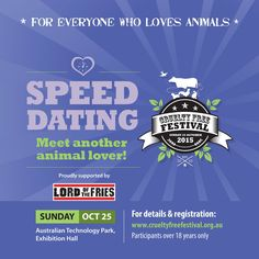 Excited to announce that Lord of the Fries will be sponsoring Speed Dating at CFF 2015 with free treats for all participants!  Make sure you register via our website to secure your place.