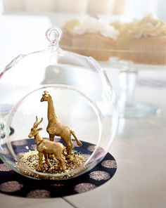 DIY Gold Animal Globe