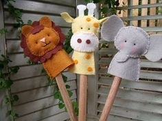 Dandelion Wishes: Fun with Finger Puppets. These are so adorable!