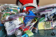 72 hour kits for kids.supplies for 72 hours, in case of an emergency Emergency Kit For Kids, 72 Hour Emergency Kit, 72 Hour Kits, Emergency Preparation, Emergency Supplies, In Case Of Emergency, Emergency Packs, Family Emergency, Emergency Preparedness Food Storage