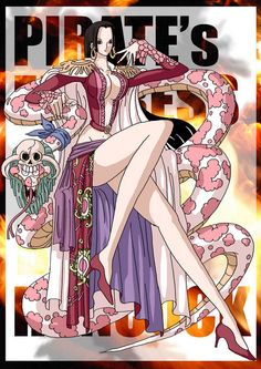 Boa Hancock est la femme pirate capitaine corsaire Impératrice de Amazone Lily - Manga One piece