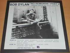 BOB DYLAN  Ultra-Rare LP  NO REMORSE  PART 2 (LIVE 61)  100 ONLY !!!