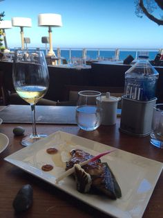 "dinning at nobu malibu  its great to finish the day with a great dish,  we were preparing the expedition about greece for the getty museum, ""power & pathos"" july 28 , dont miss it if you are in cali"